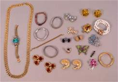 62: Assorted Gold Tone & Sparkly Costume Jewelry