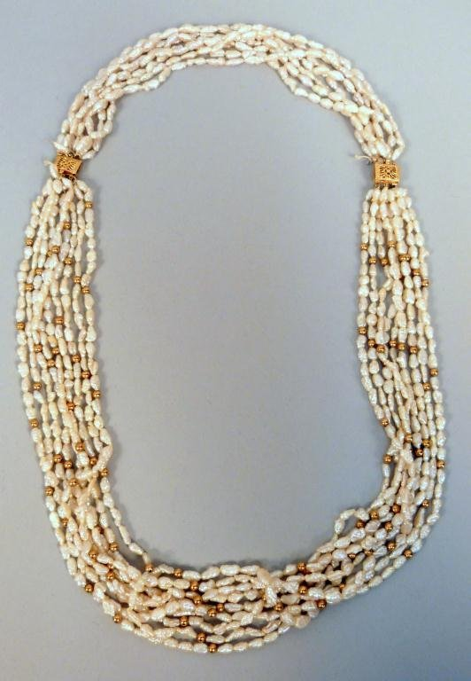 2: Multi Strand Cultured Pearl Necklace