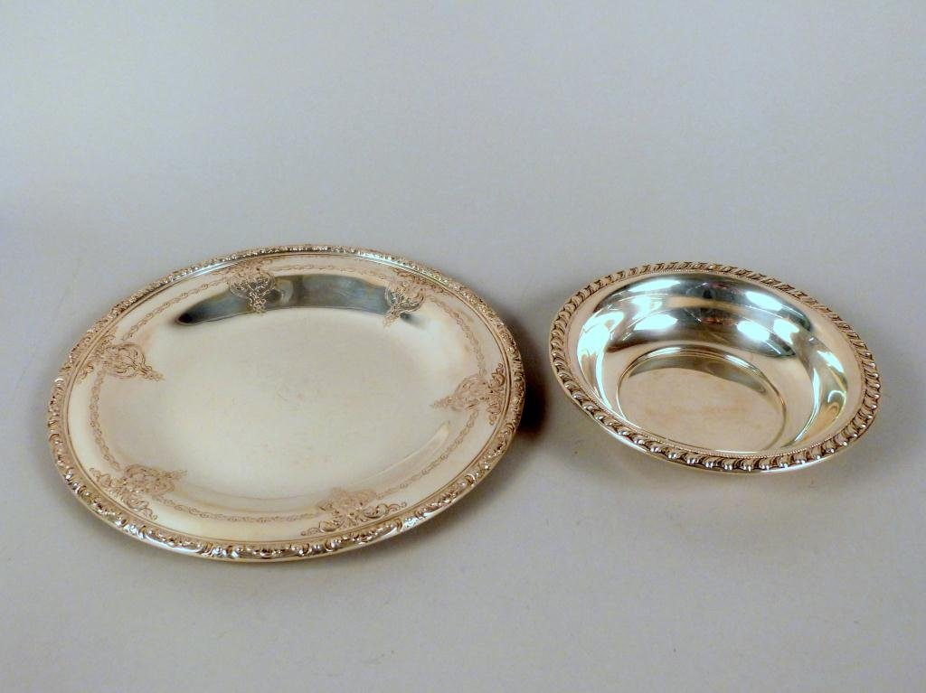3: 2 Sterling Items - Tray & Bowl