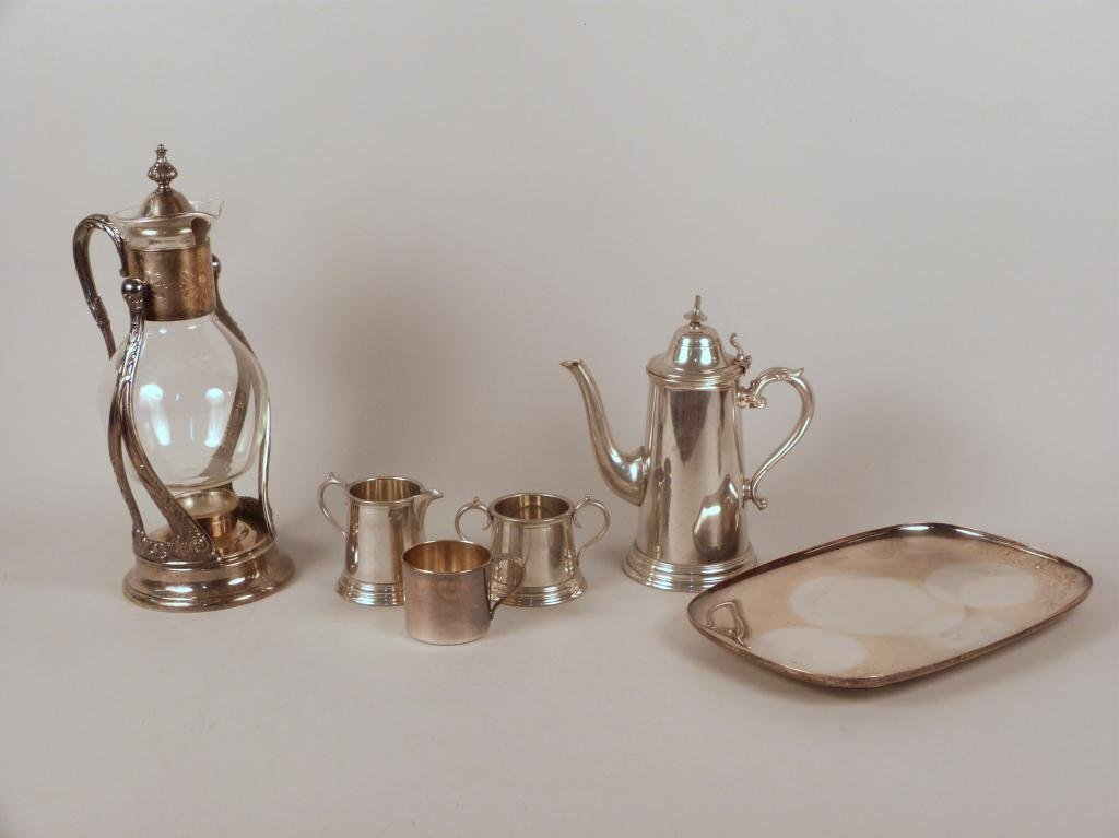 7: Assorted Silver Plate & Pewter