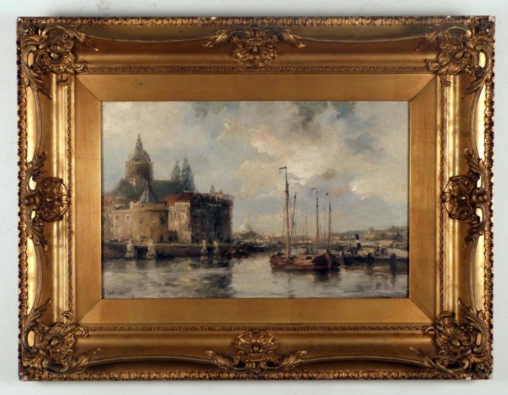 186: Jan van der Linde (Dutch 1864-1945) - Oil