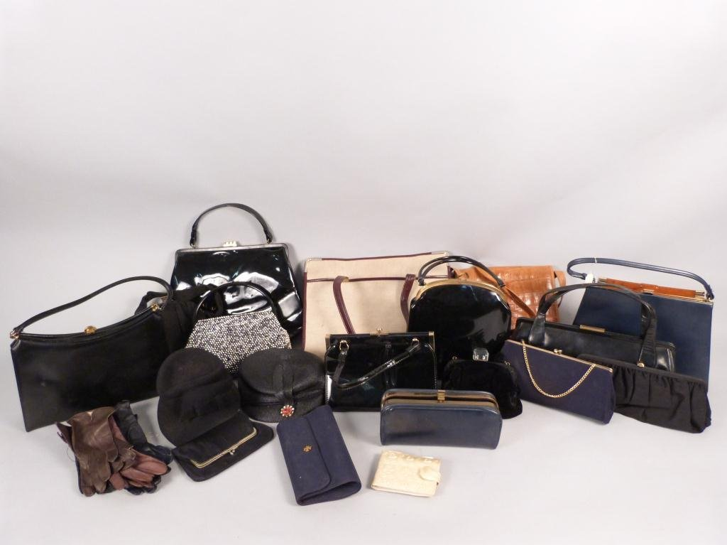 20: Large Lot Ladies Purse and Hats