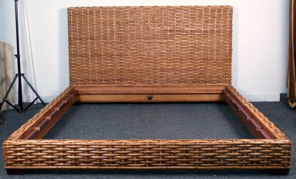 342 king size wicker bed frame king size wicker bed frame - Wicker Bed Frame