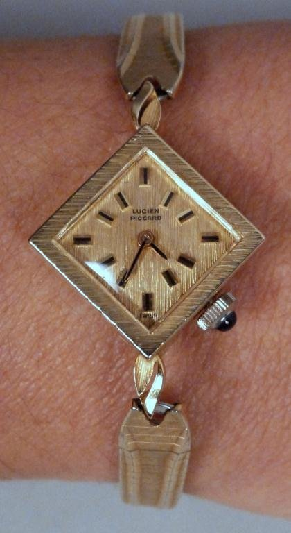 6: 14K Gold Lucien Piccard Ladies Watch