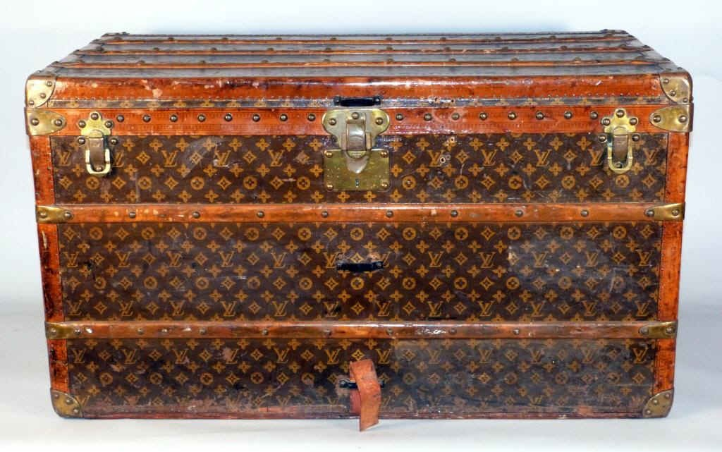 "200: Vintage Louis Vuitton Trunk - 22"" X 22"" X 40"""