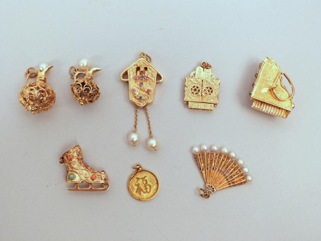 3: 8 Gold Charms for a Charm Bracelet