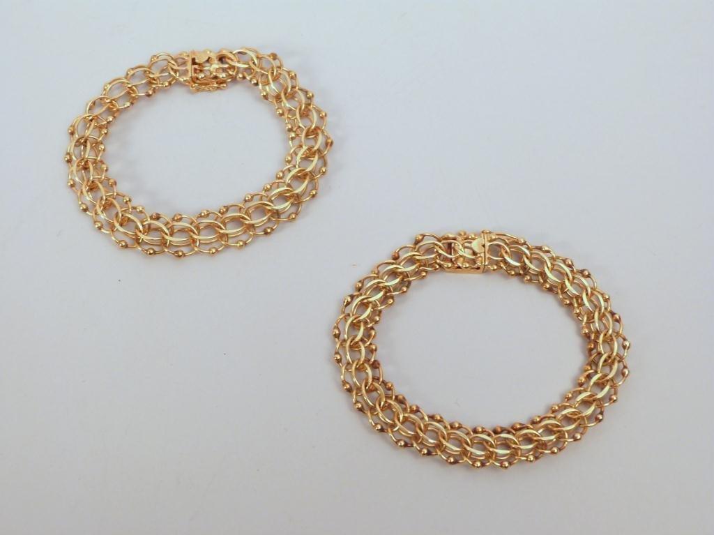 4: 2 14K Gold Charm Bracelets