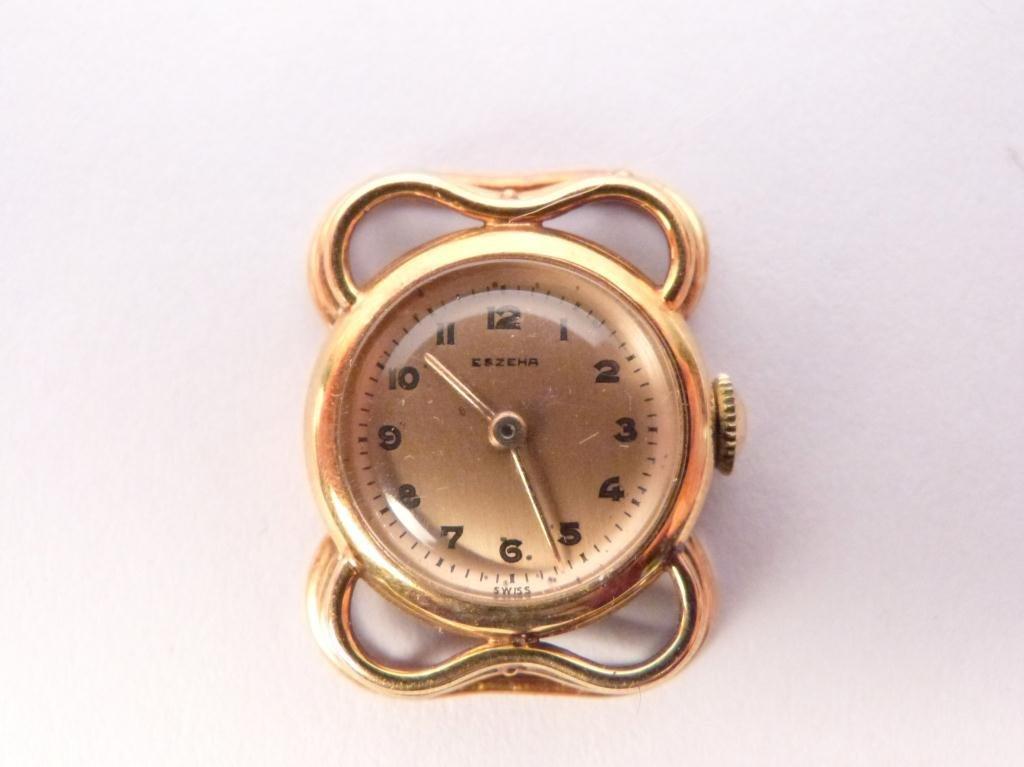 18: Eszehr Swiss Gold Tone Watch