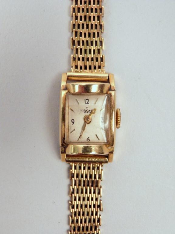 20: Vintage Tissot 14K Gold Watch