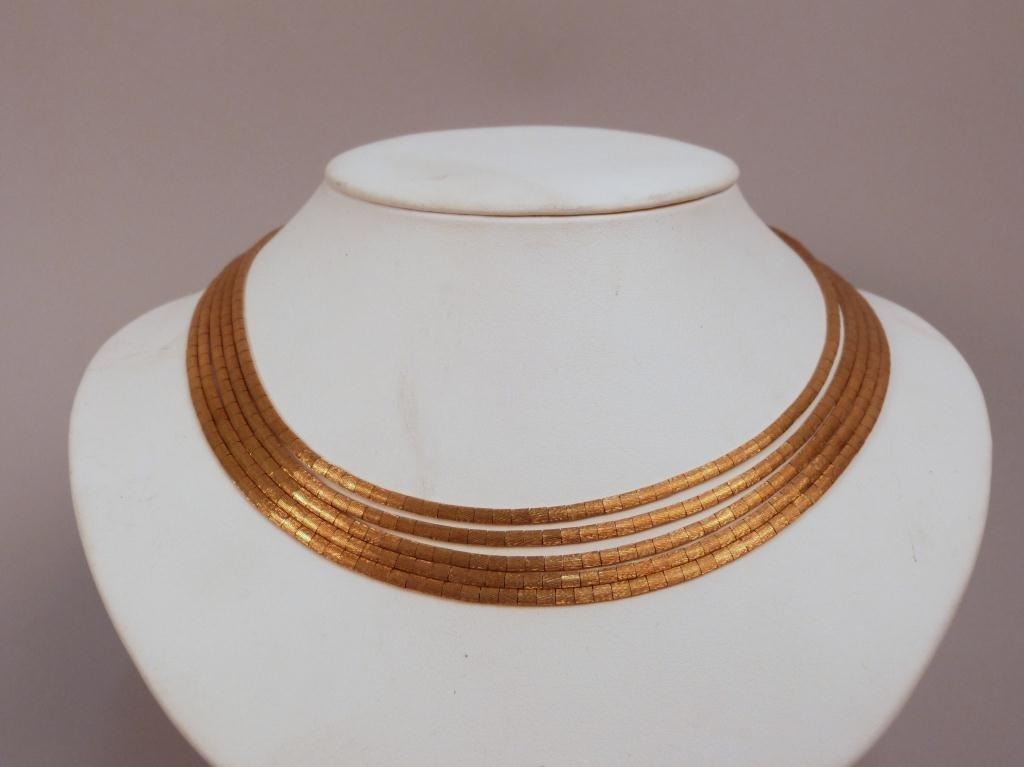 6: 18K Gold Multiple Strand Necklace