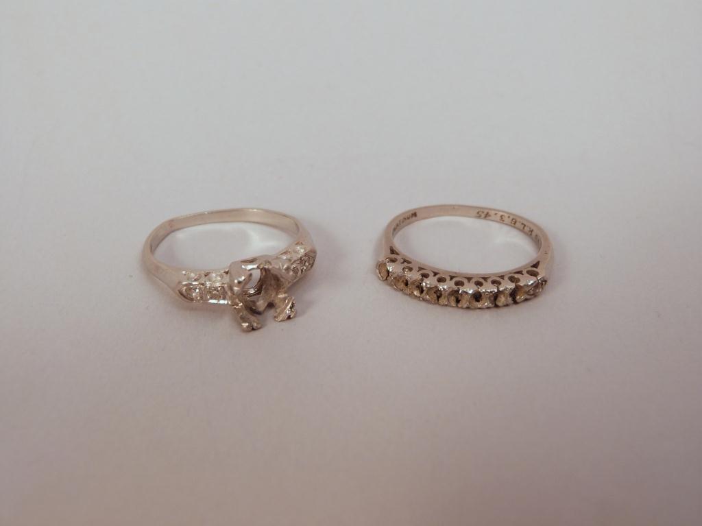 21: 2 Platinum and Diamond Rings