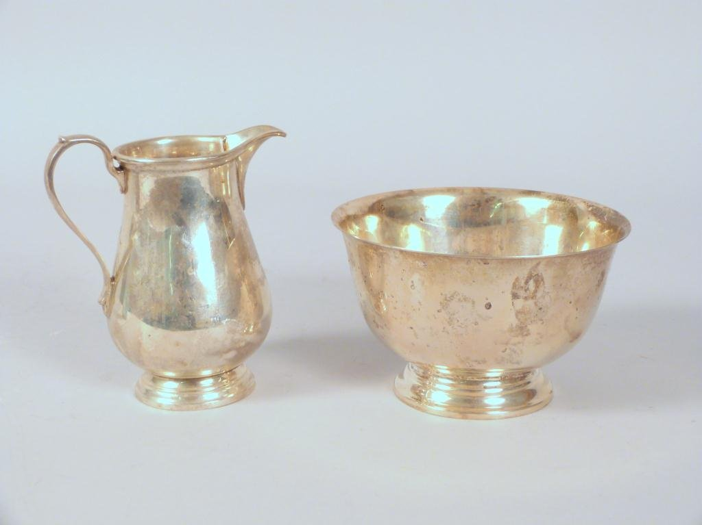 Tiffany & Co. Sterling Silver Creamer and Bowl