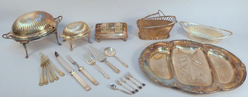 Large Lot of Siler Plated Articles