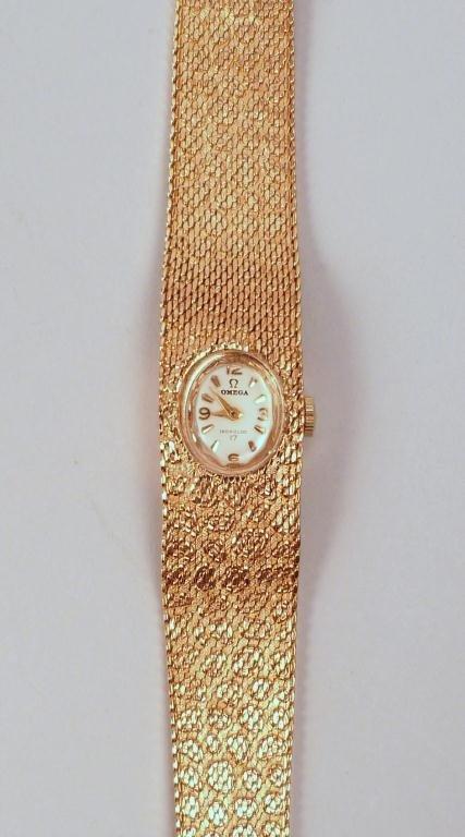 18K Gold Omega Ladies Watch