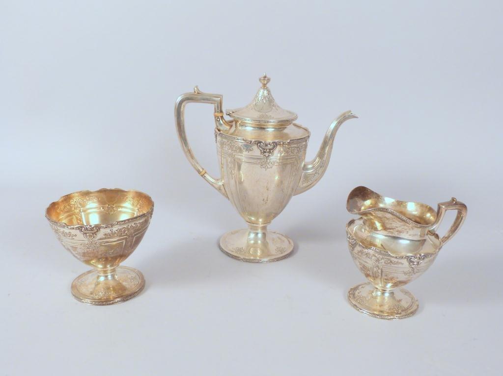 3 Piece Sterling Silver Tea Set