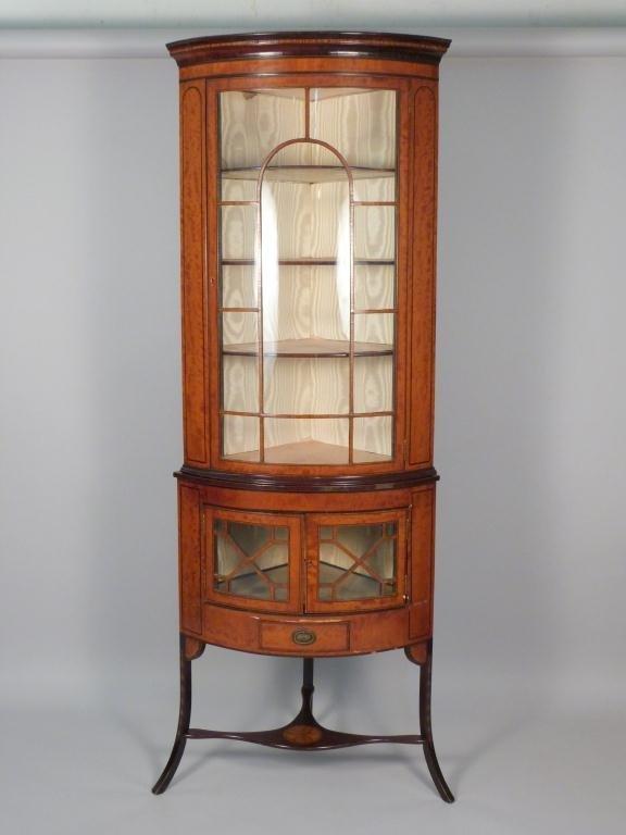 Antique English Corner Cabinet