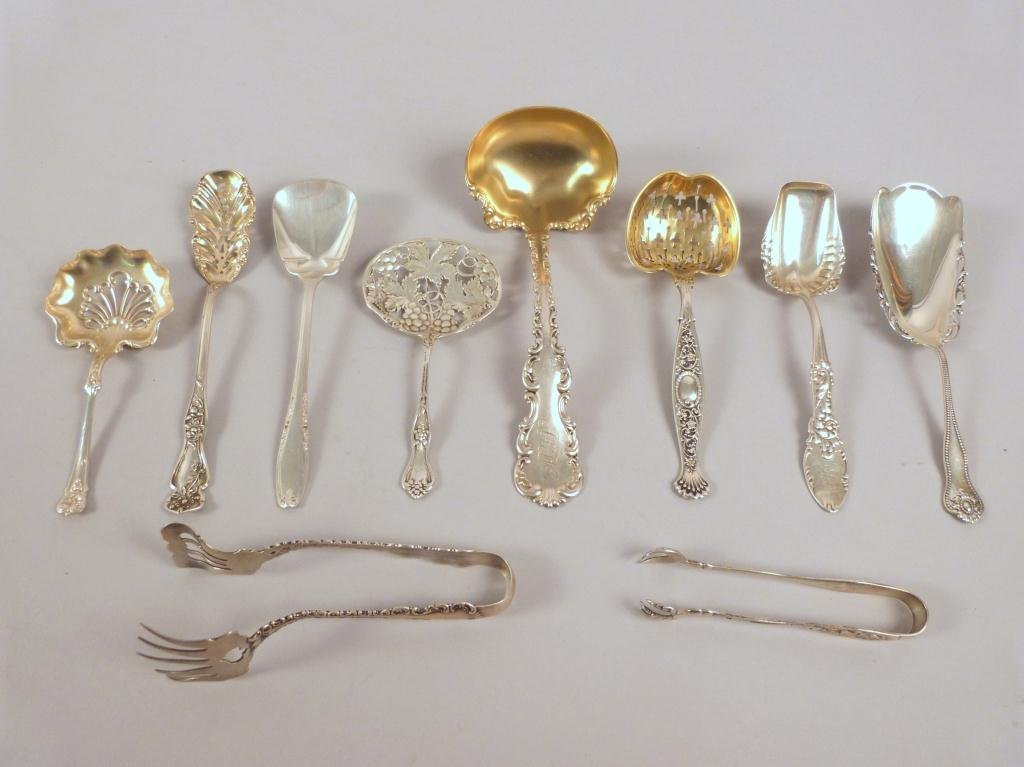 10 Small Sterling Silver Serving Pieces