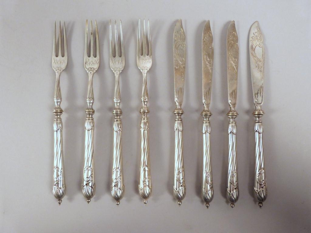 8 Piece Continental Silver Fish Set
