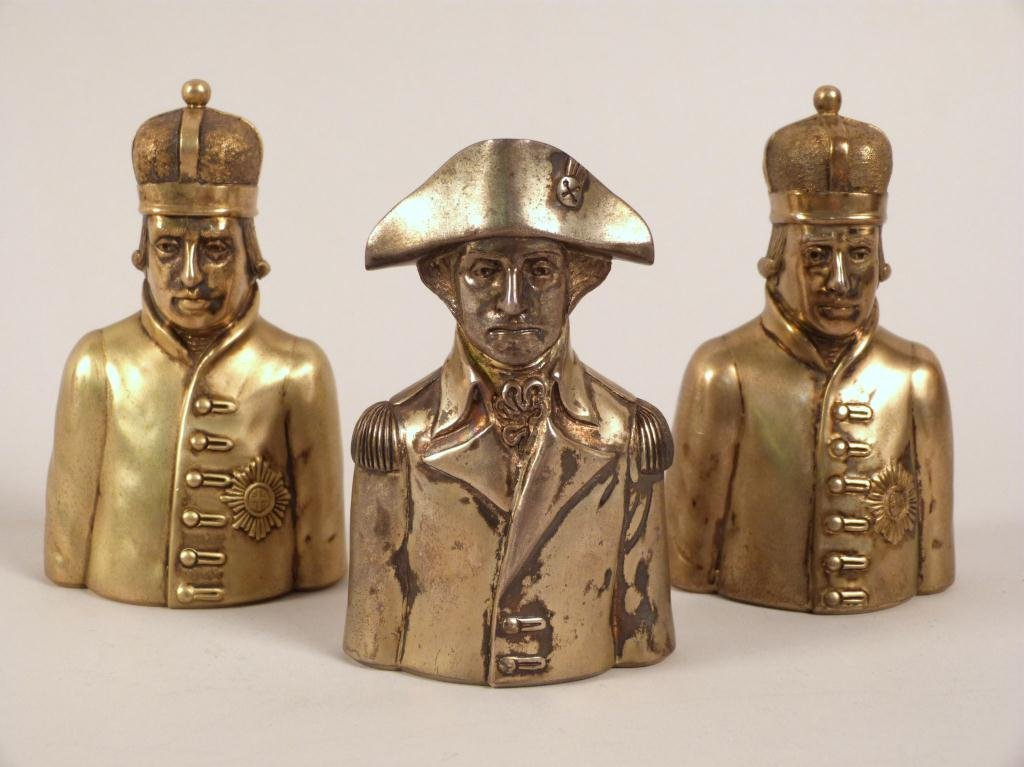 3 Liberty Mint Sterling Silver Chess Pieces