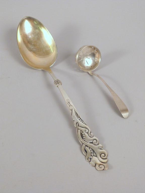 2 European Silver Serving Pieces