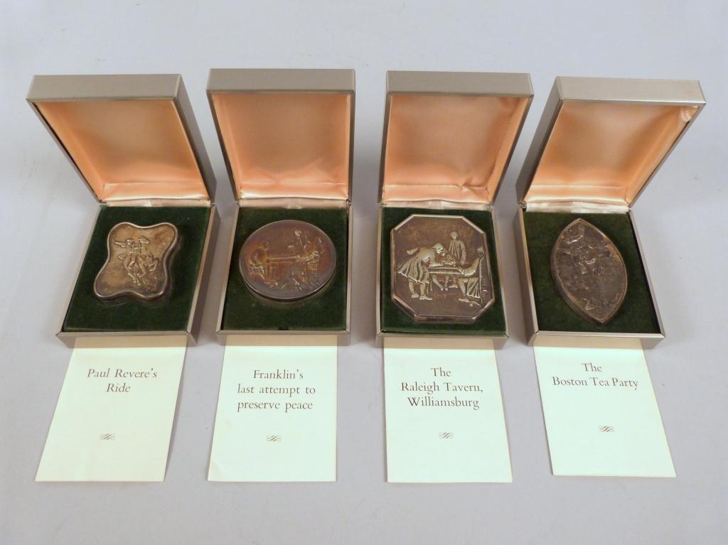 4 John Townley English Silver Boxes