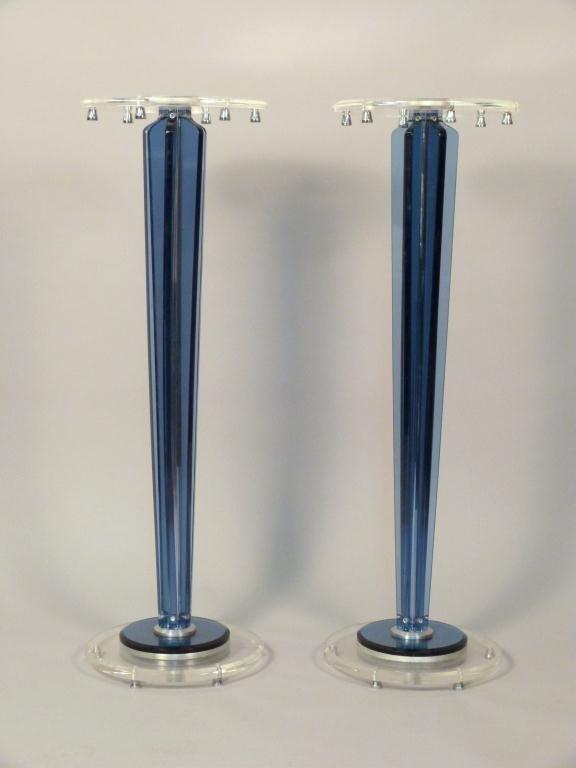 Pair Modern Lucite Pedestals