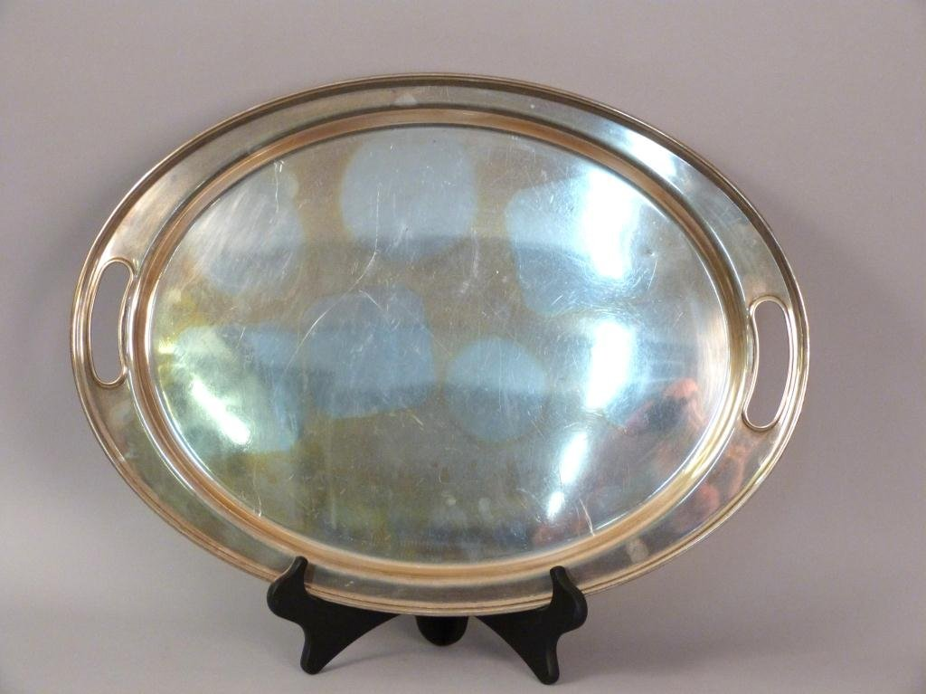 Sterling Silver Oval Serving Tray