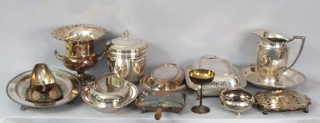 Assorted Lot of Silverplated Articles