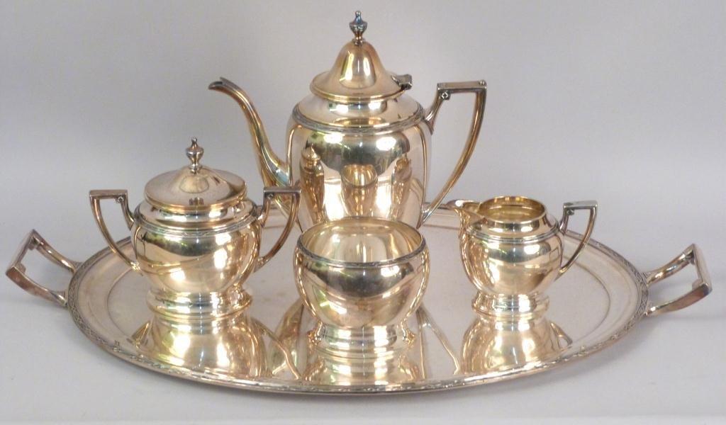 5 Piece Silverplated Tea Service