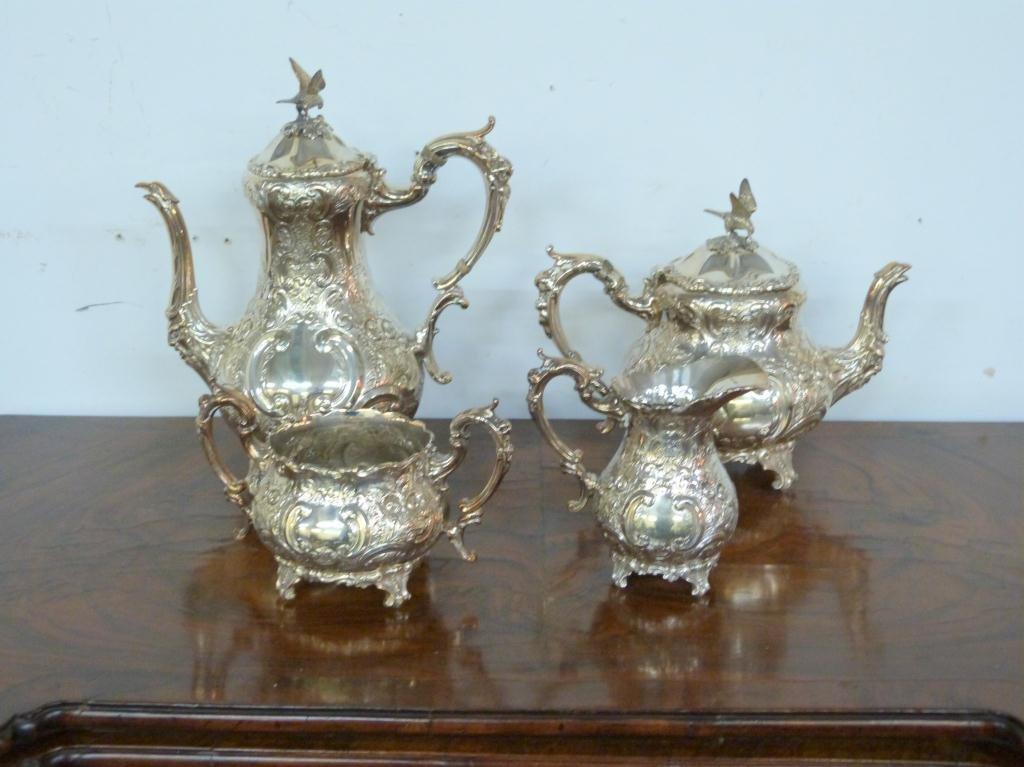 4 Piece Silver Plated Tea & Coffee Set