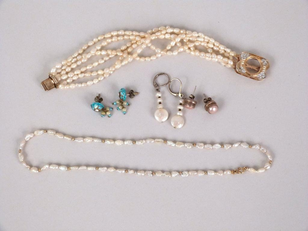 Costume Jewelry of Pearls and Faux Pearls