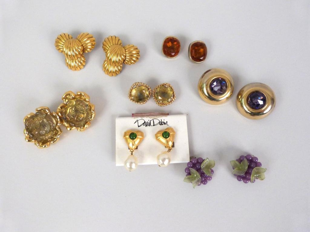 7 Pair Costume Jewelry Earrings