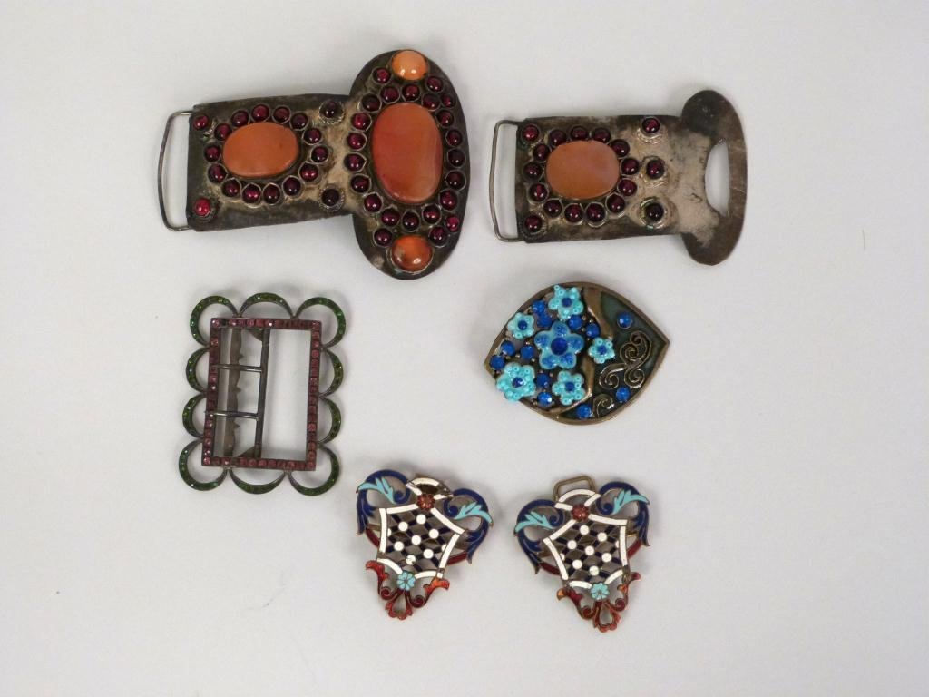 Enamel and Jeweled Buckles