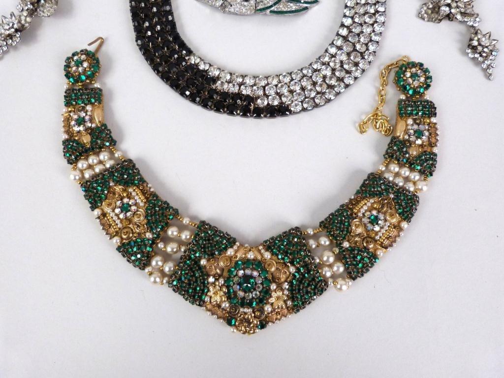 "Costume Jeweled Glitzy"" Jewelry Lot"" - 4"
