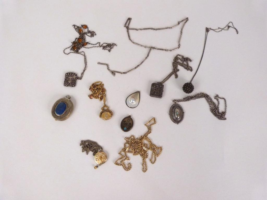 Assorted Sterling & Other Costume Jewelry