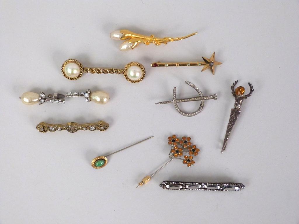 Assorted Ladies Costume Stick Pins & Bar Pins