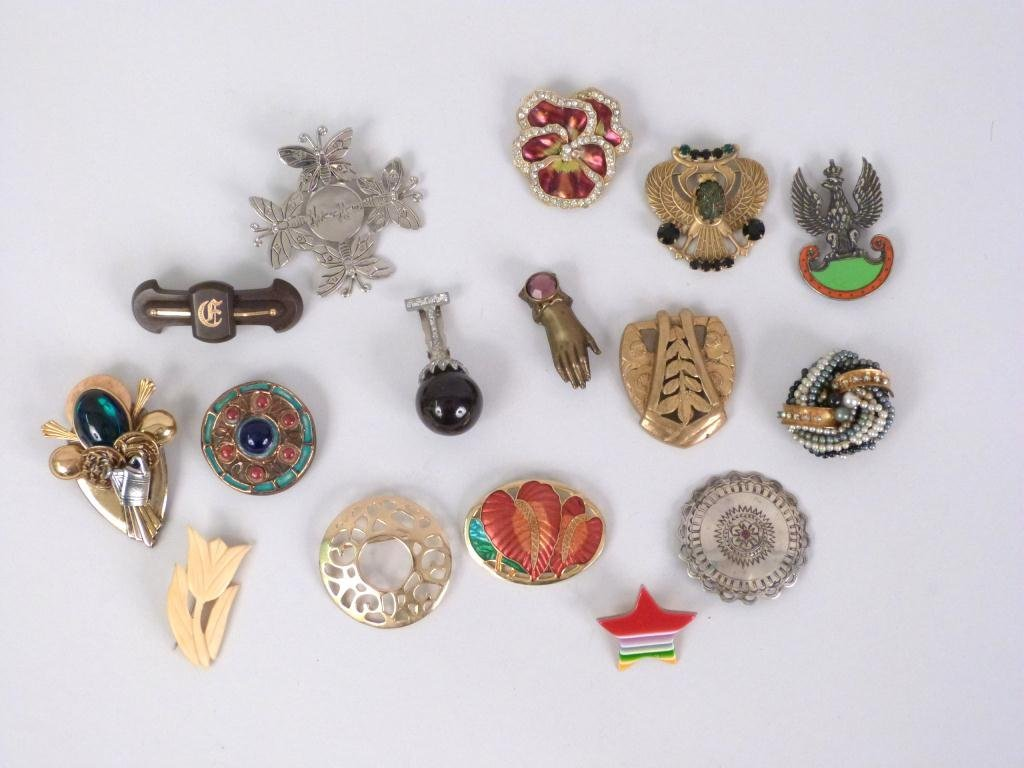 Assorted Costume Pins & Brooches