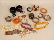 Assorted Costume Jewelry Bangles etc