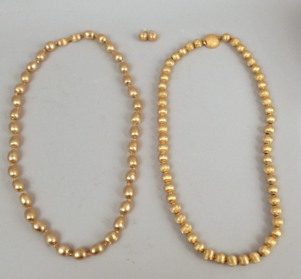 Trifari & Monet - Costume Necklaces and Earrings