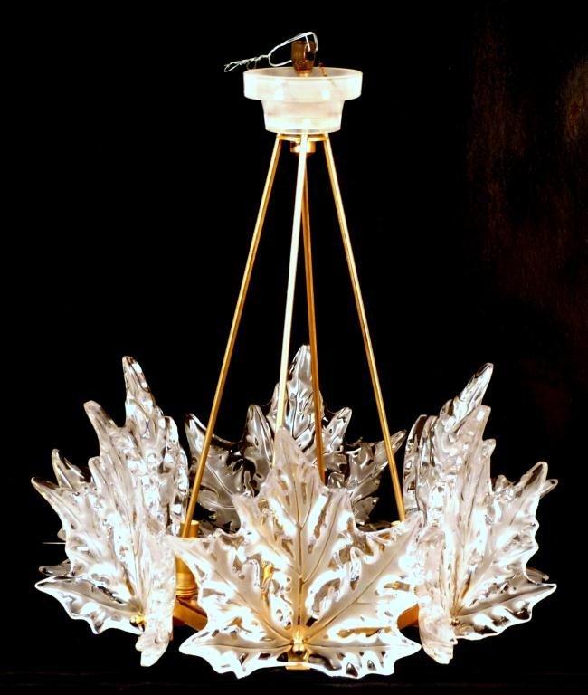 Lalique Champs- Elysees 1 Tier Chandelier