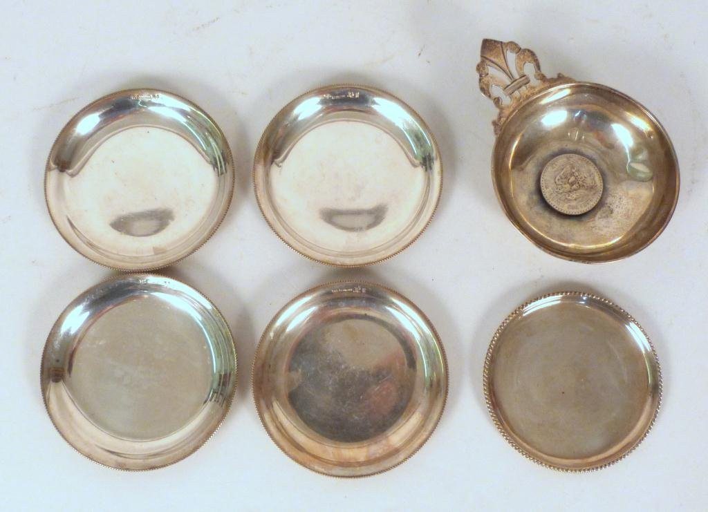6 Sterling Silver Nut Dishes