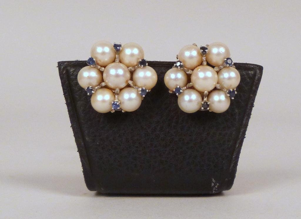 Pair of 14K Gold and Pearl Earrings