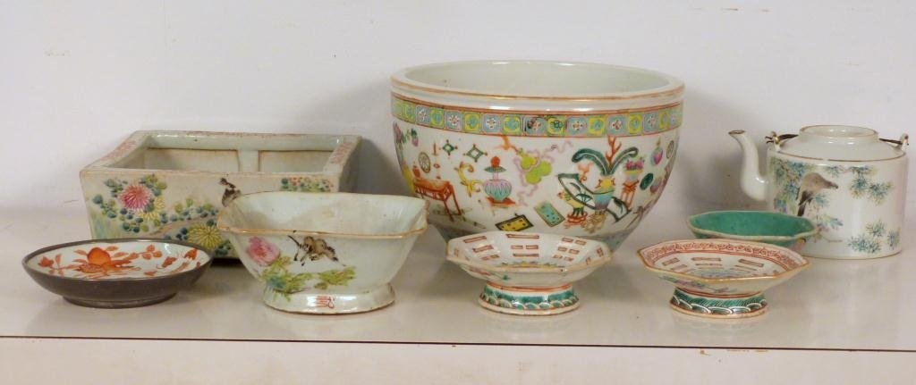 Assorted Chinese Porcelain Articles