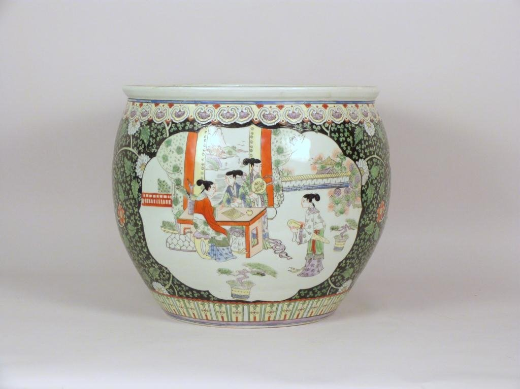Large Chinese Decorated Planter