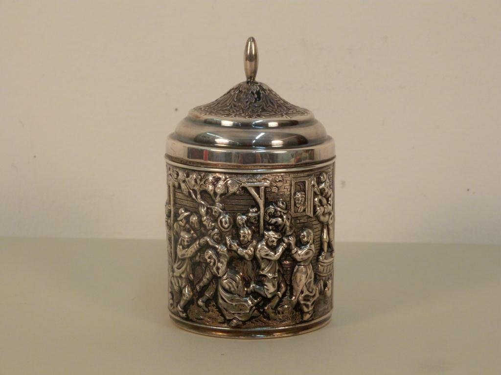Silver Plated Dutch Round Covered Box