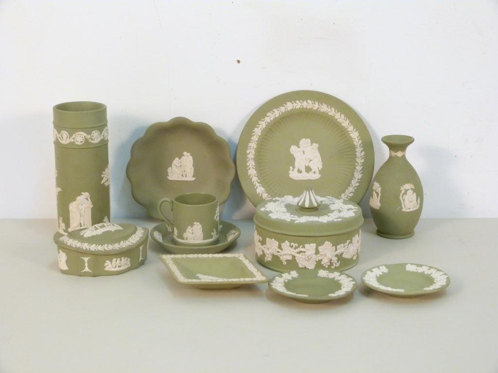 Assorted Wedgewood Green Jasperware
