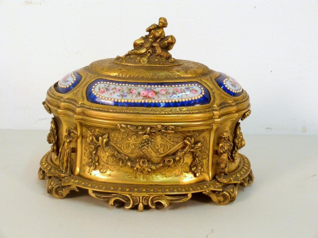 French Brass Jewelry Box