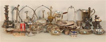 Lot Assorted Silver Plated Articles