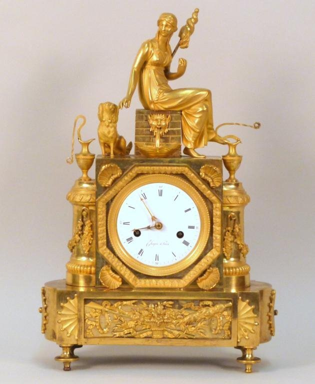 Antique French Bronze Mantle Clock **