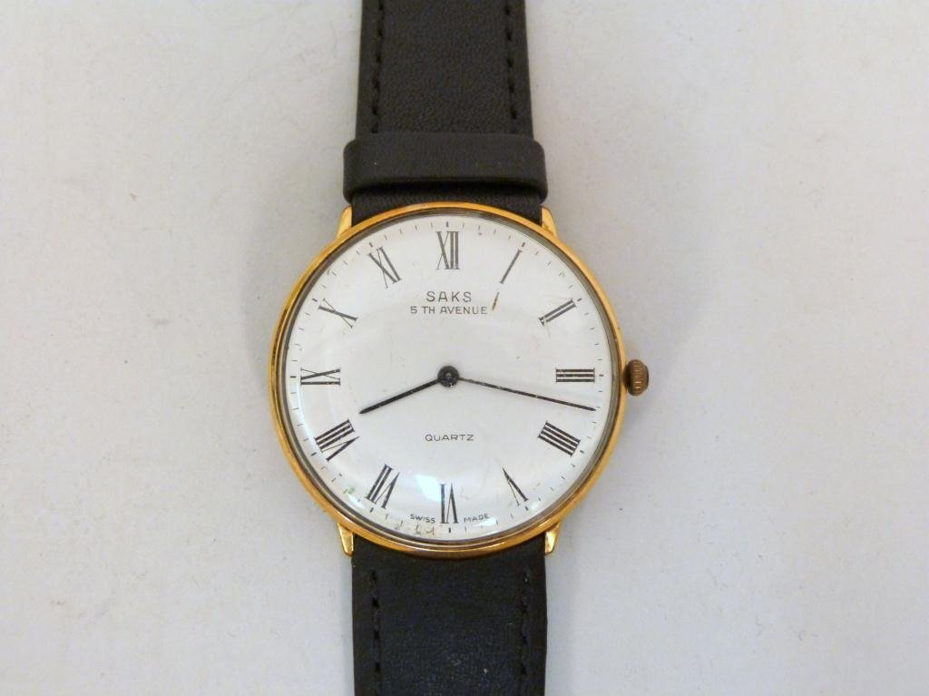 Vintage Saks Fifth Avenue Mans Wrist Watch
